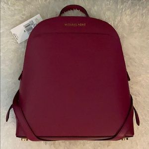 Michael Kors Emmy Dome Backpack Magenta Leather